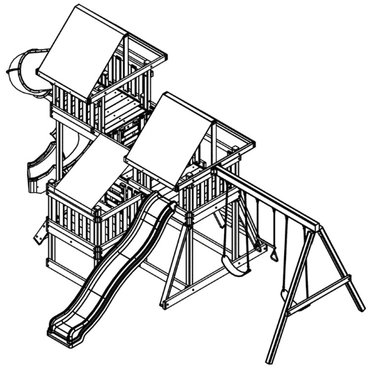 congo monkey swing set playsystem #4 drawing