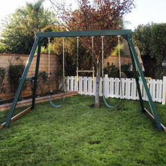 congo swing central 3 position swing set in green color