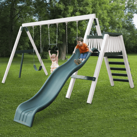congo swing'n monkey 3 position swing set