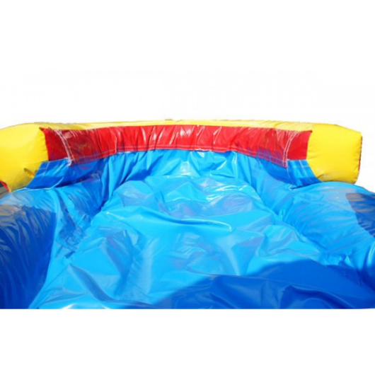 screamer inflatable slide has a cushioned removable pool at the bottom of the slide