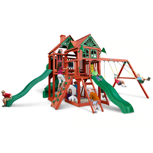 five star deluxe swing set by gorilla playsets