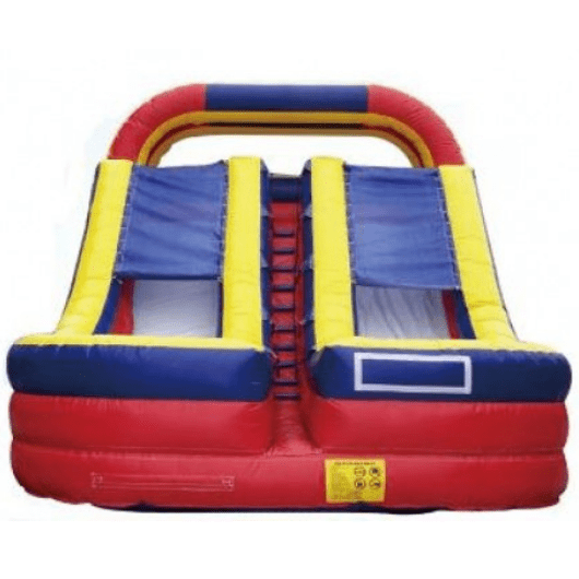 Inflatable Slide - 18' Dual Lane Commercial Inflatable Water Slide With Pool - The Bounce House Store