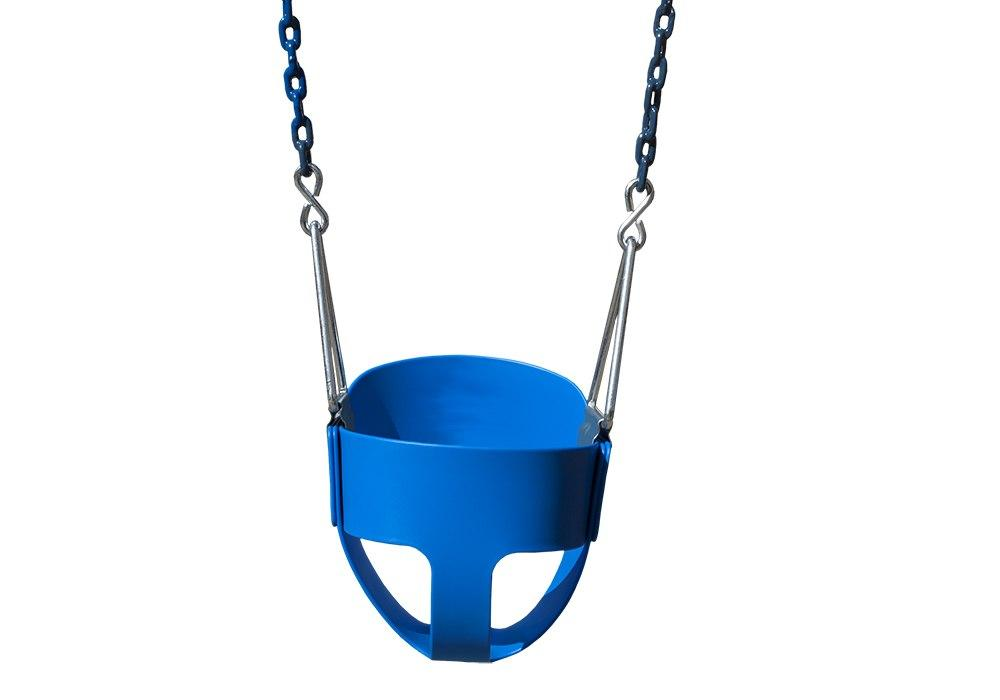 full bucket toddler swing by gorilla playsets in blue color - Swing Set Accessories