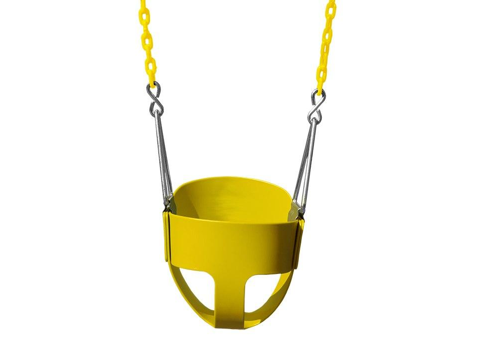 full bucket toddler swing by gorilla playsets in yellow color - Swing Set Accessories
