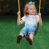 Image of girl swinging on gorilla swing set