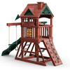 Image of gorilla five star space saver swing set rear view