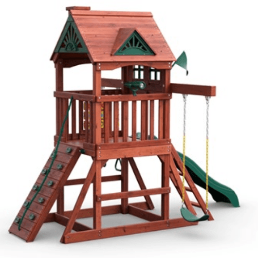 gorilla five star space saver swing set side view