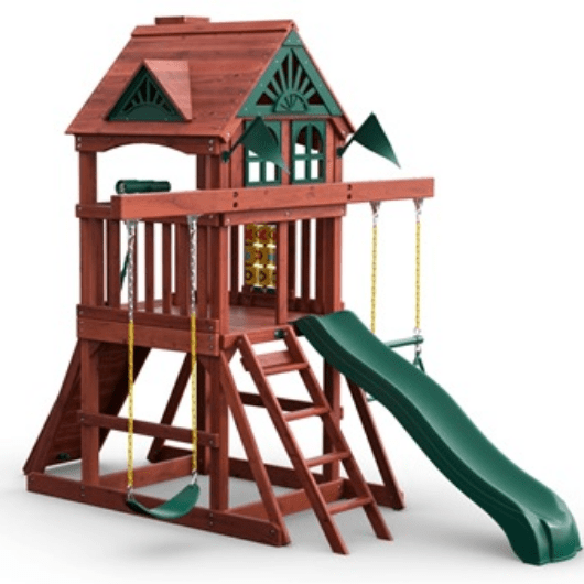 gorilla space saver swing set front view