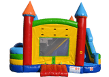 front-view-of-commercial-bounce-house-with-slide