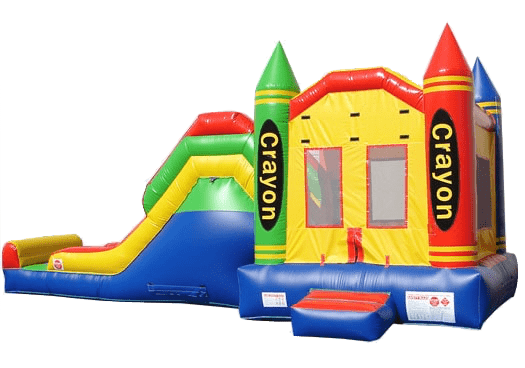 Commercial Bounce House - 5 in 1 Super Combo Crayon Bounce House - The Bounce House Store