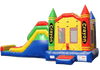 Image of Commercial Bounce House - 5 in 1 Super Combo Crayon Bounce House - The Bounce House Store