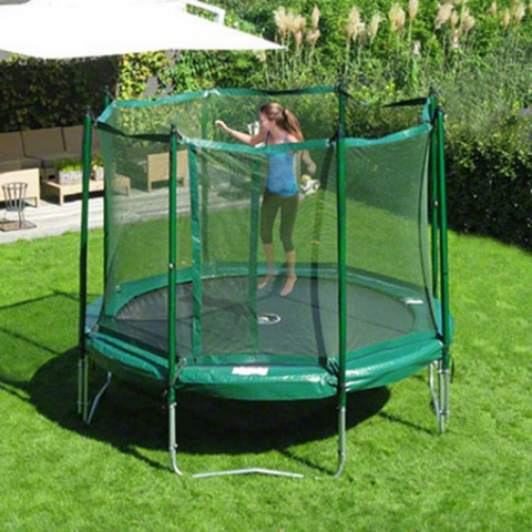 jumping on the JumpFree 12' Trampoline and Safety Enclosure