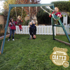 Image of kids on congo swing central swing set