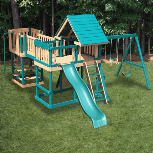 kidwise congo monkey playset #5 outdoors in a yard