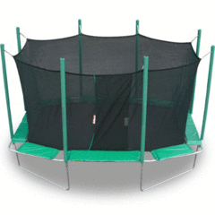Image of Magic Circle 9' x 14' Rectangle Trampoline With Safety Enclosure