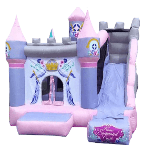 KidWise Pink Princess Inflatable Bounce House Castle