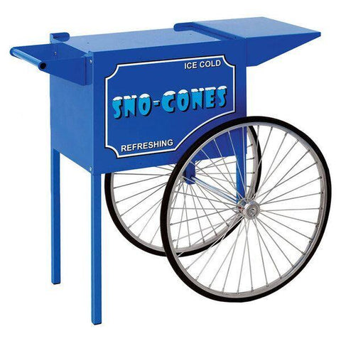 Carts & Stands - Medium Blue Snow Cone Cart - The Bounce House Store