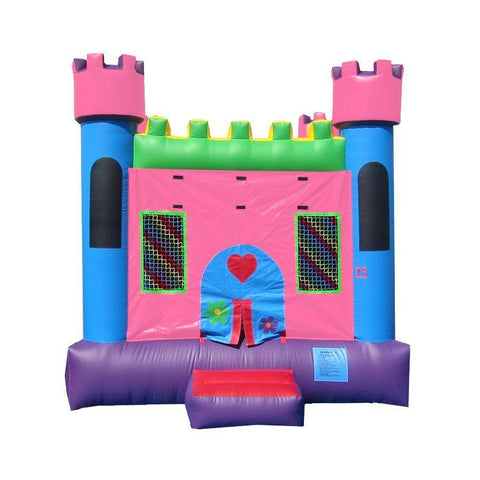 Commercial Bounce House - Happy Jump Pink Castle 1 Commercial Bounce House - The Bounce House Store