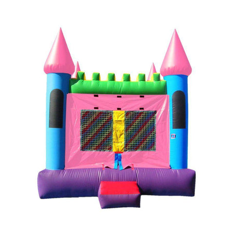 Commercial Bounce House - Happy Jump Pink Castle 2 Commercial Bounce House - The Bounce House Store