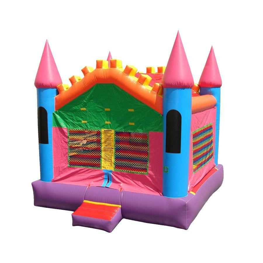 Commercial Bounce House - Happy Jump Pink Castle 3 Commercial Bounce House - The Bounce House Store