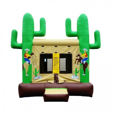 Commercial Bounce House - Happy Jump Cowboy Western Commercial Bounce House - The Bounce House Store