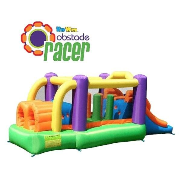 Residential Bounce House - KidWise Obstacle Speed Racer Bounce House - The Bounce House Store