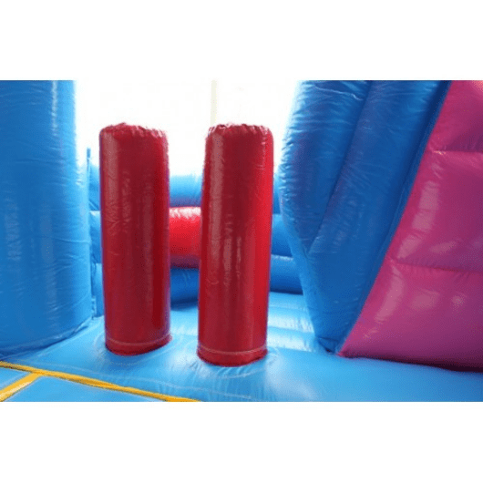 inflatable pop up obstacles inside princess bouncer