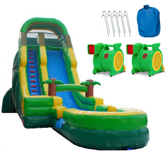 palm tree commercial inflatable water slide