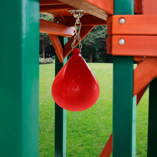 punching ball on gorilla five star II deluxe swing set
