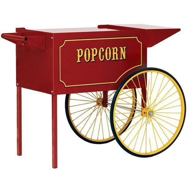 Carts & Stands - Large Red Popcorn Machine Cart - The Bounce House Store