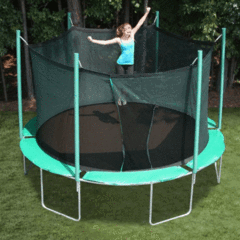 Image of Sports Tramp Extreme 13.5' Round Trampoline with Detachable Enclosure