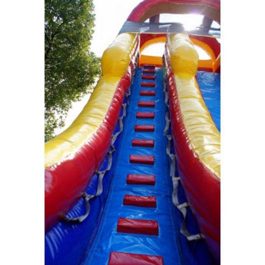 stairs leading to the top of the inflatable slide
