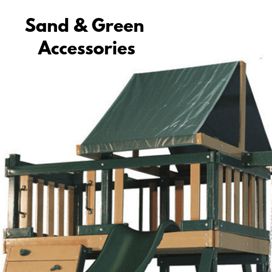 congo swing set in sand and green color