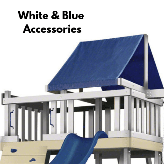 kidwise congo swing set in white and blue color