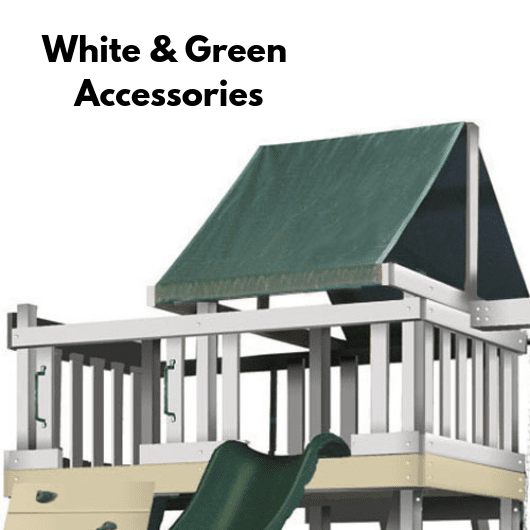 kidwise congo swing set in white and green color