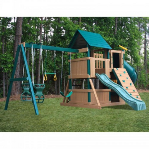 kidwise congo explorer tree house climber swing set