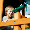 Image of telescope on gorilla playsets swing set