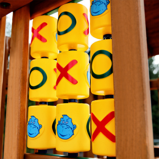 tic tac toe panel on gorilla chateau clubhouse swing set