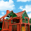 Image of tongue and groove wood roof on gorilla five star deluxe swing set