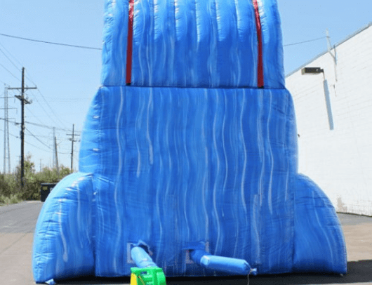 rear view of the tsunami screamer inflatable water slide