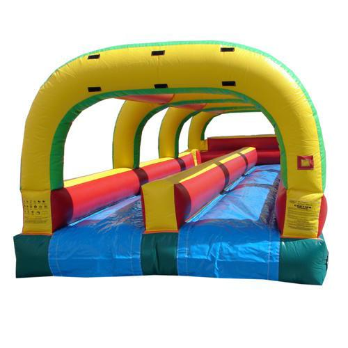 Slip N Slide - 33'L Happy Jump Slip N Slide - Double Lane - The Bounce House Store