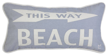 Beach This Way Canvas Pillow