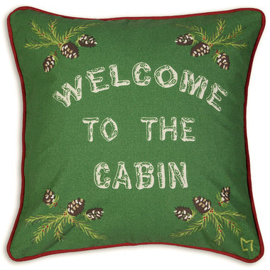 Welcome To The Cabin Canvas Pillow