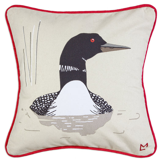 Loon Canvas Pillow