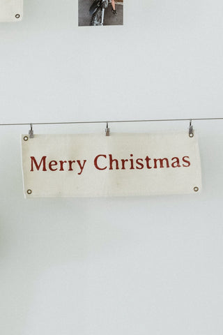 Merry Christmas Canvas Wall Decor