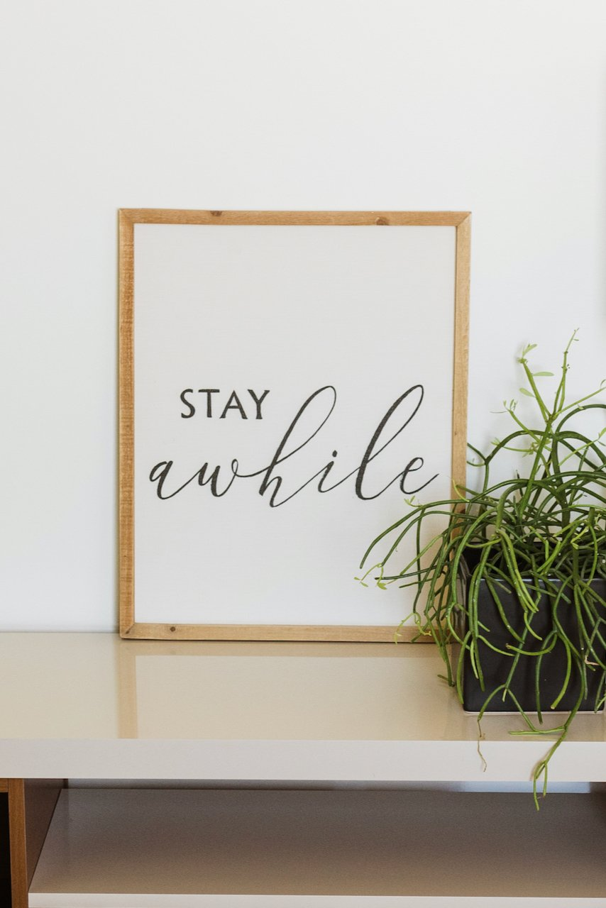 Stay Awhile Wall Decor