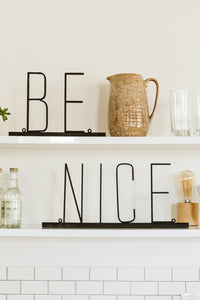 Be Nice Metal Sign