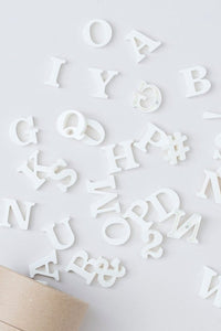 Classic Magnetic Letters Paper White