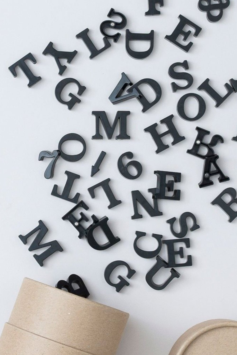 Classic Magnetic Letters Inky Black