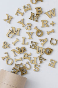 Classic Magnetic Letters Inca Gold
